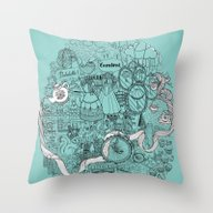 Victorian London Throw Pillow