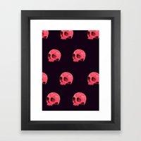 Pink Skull Pattern Framed Art Print