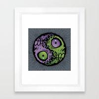 Zombie Yin-Yang Framed Art Print