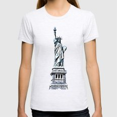 New York Womens Fitted Tee Ash Grey SMALL