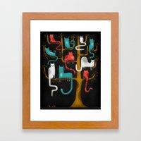 TREE CATS Framed Art Print