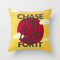 Chase The Sun Throw Pillow