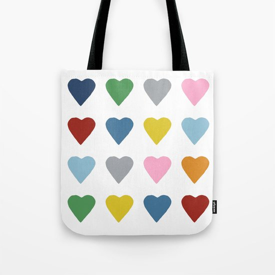 16 Hearts Tote Bag