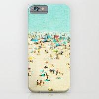 beach iPhone & iPod Cases featuring Coney Island Beach by Mina Teslaru