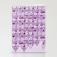 Diamond Faces Stationery Cards