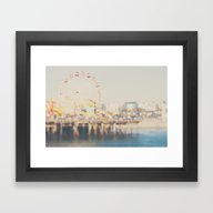 Santa Monica Pier ...  Framed Art Print