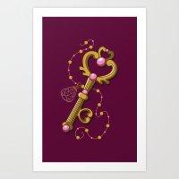 Chibiusa Time Key - Sail… Art Print