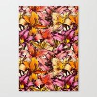 Daylily Drama - A Floral… Canvas Print