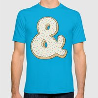 Ampersandonut Mens Fitted Tee Teal SMALL