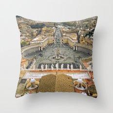 Piazza San Pietro, Vatican Throw Pillow