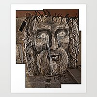 Graffiti Jesus Art Print