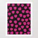 Raspberry pattern Art Print