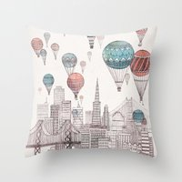 Voyages Over San Francis… Throw Pillow
