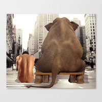 Hanging Out With A Friend Canvas Print