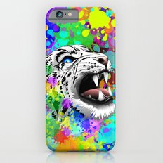 Leopard Psychedelic Paint Splats Slim Case iPhone 6s