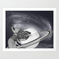 FLY ME TO THE SATURN Art Print