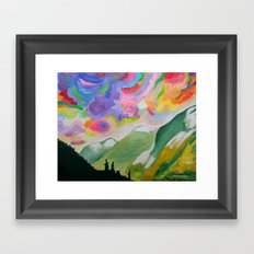 First Snow On The Coquihalla Framed Art Print
