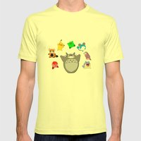 Video game Anime Character Rainbow Mens Fitted Tee Lemon SMALL