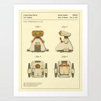 ROBOT PATENT (1987) Art Print