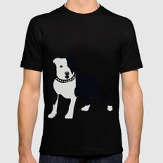 Staffordshire Bull Terrier Mens Fitted Tee Black SMALL