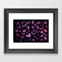 Night butterflies Framed Art Print