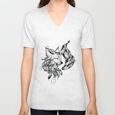 Fox B&W  Unisex V-Neck