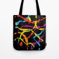 Splattered Rainbow [BLAC… Tote Bag