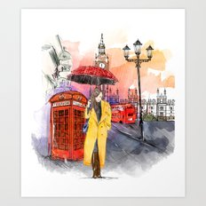 Meet Me in London Art Print