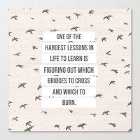 life lessons Canvas Print