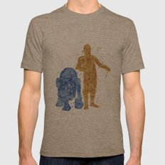 C3PO And R2D2 Star . War… Mens Fitted Tee Tri-Coffee SMALL
