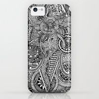 iPhone Cases featuring Abstract Fullpage Doodle by christoph_loves_drawing