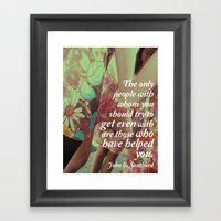 John E. Southard Quote Framed Art Print
