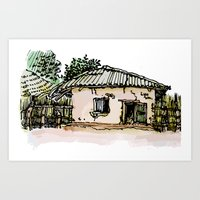 A BAKERY IN THE GAMBIA Art Print