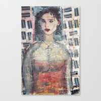 BLOCKBUSTER GIRL Canvas Print