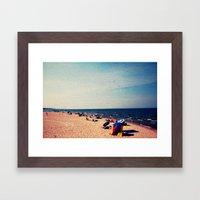Lake Michigan Beach Scene Framed Art Print