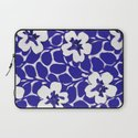 Painted Floral (Blue) Laptop Sleeve