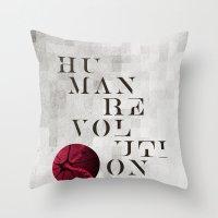 Human Revolution Throw Pillow