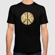 Give Pizza Chance Mens Fitted Tee Black SMALL
