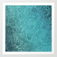 Detailed Zentangle Squar… Art Print