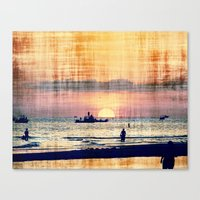 and The world was quiet .... Canvas Print