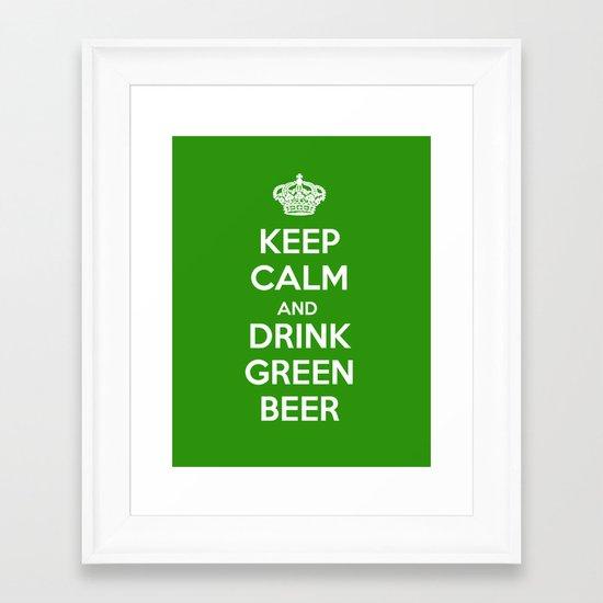 Keep Calm & Drink Green  Framed Art Print