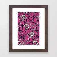 Honolulu hoopla pink Framed Art Print