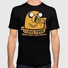 i love food more than i love people Mens Fitted Tee Black SMALL
