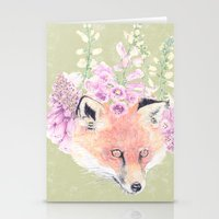 Fox & Foxgloves  Stationery Cards