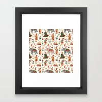 Indian Pattern Framed Art Print