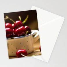 Red Cherries on the table Stationery Cards