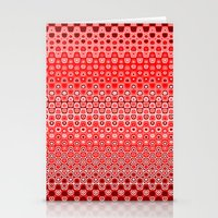 Mosaic Red Stationery Cards