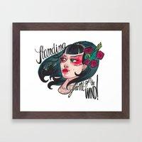 Vindy Framed Art Print