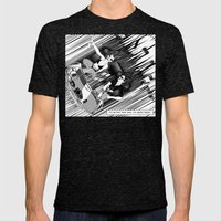It's better than safe. It's death proof Mens Fitted Tee Tri-Black SMALL