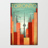 Toronto: Skyscraper City Canvas Print
